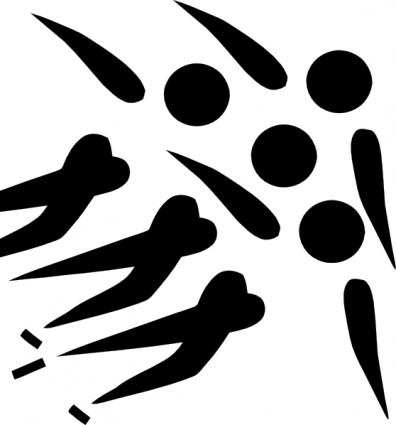 Olympic Sports Short Track Speed Skating Pictogram