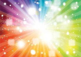 Rainbow Vector Background Colors