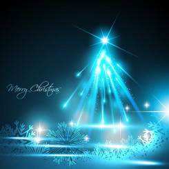 A gorgeous bright Christmas background vector-3