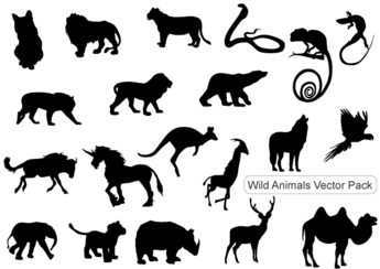 Wild Animals Silhouettes Free Vector Pack