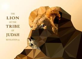 Free Vector Polygonal Lion Of Judah Wallpaper