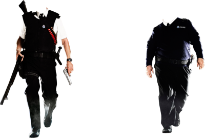 free 2 police officer psd vector graphic vectorhqcom