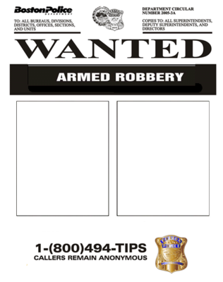 FBI Wanted Poster PSD