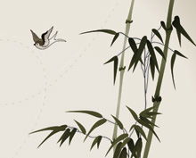 Vector Bamboo Branches Illustration