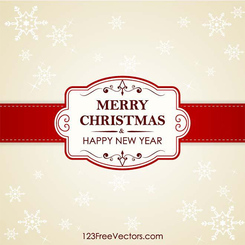 Christmas Card Vector Banner Background