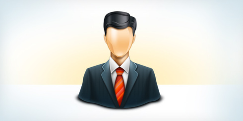 Business user icon (PSD & PNG)