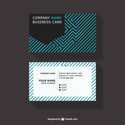 Abstract design business card free download