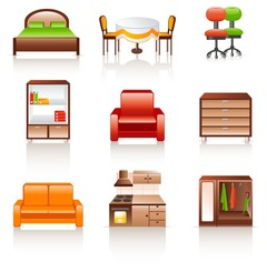 rounded furniture icon