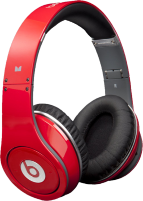 Red Studio Beats by Dre PSD