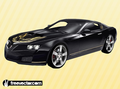 Sculpted Hood Black Pontiac Trans AM