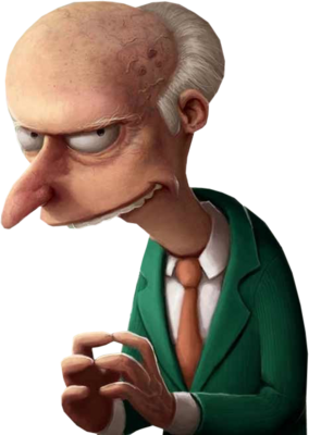 The Simpsons Mr. Burns PSD