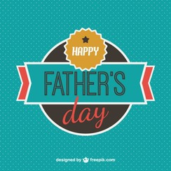 Father's day card free template