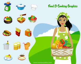 17 Cooking Related Icons by Pien