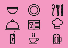 Kitchen Items Vector Icons