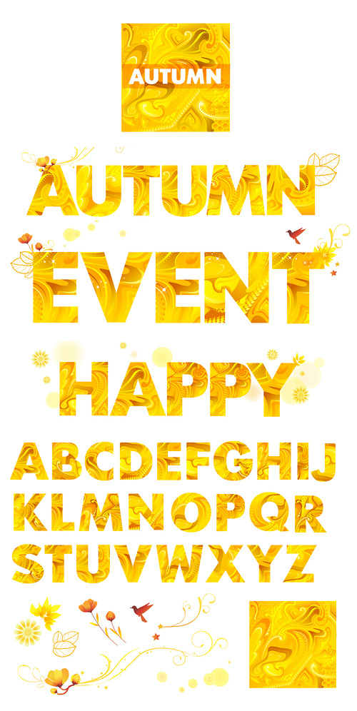 Yellow Autumn Letters