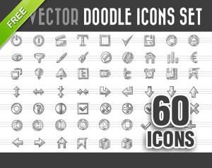 Free Doodle Icons Vector Set