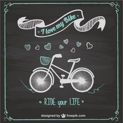 Bike ride chalkboard design