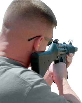 Aiming Person PSD