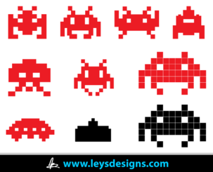 Space Invader Icons
