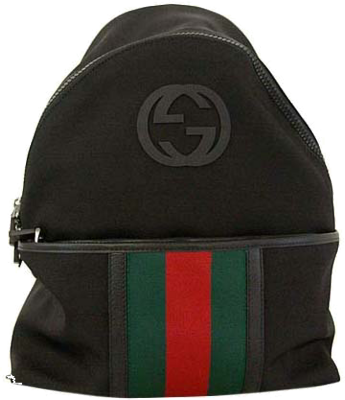 Black Gucci Backpack PSD