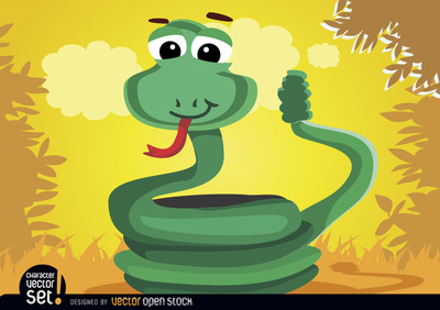 Coiled rattle snake animal