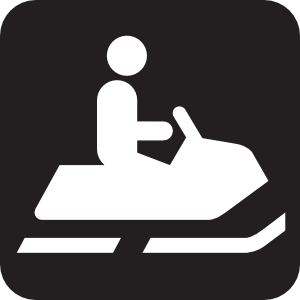 Snowmobile Trail Black