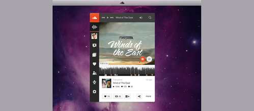 Free Sound Cloud Music Player App Vector Graphic - VectorHQ com