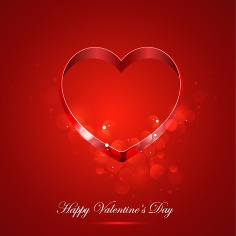 Card for Valentine Day With Heart