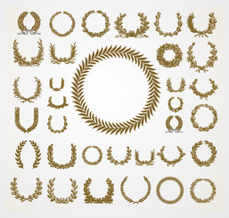 Olive & Laurel Wreath Vector Set (Free)