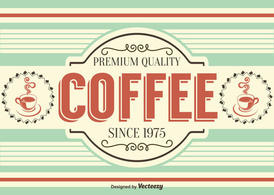 Retro Style Coffee Background /Label