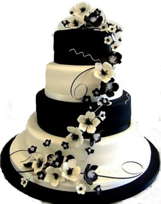 Black and White cake PSD