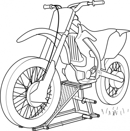 Outline Motorcycle Lift