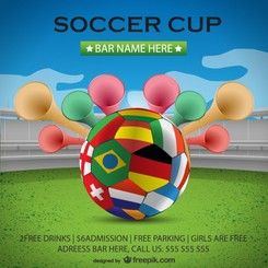 Soccer cup poster background