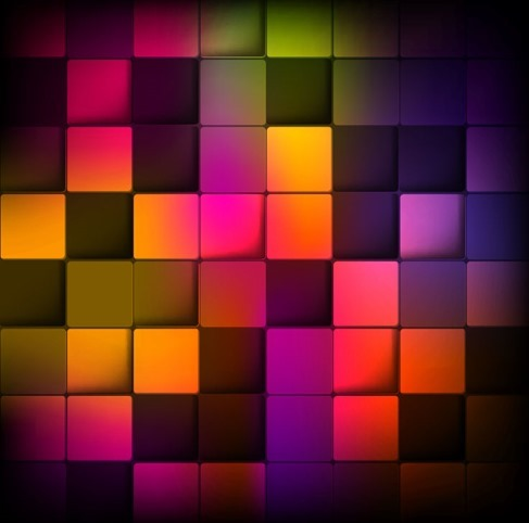 Abstract Background with Colorful Squares