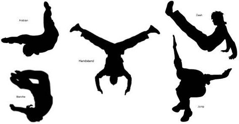 People freestyle silhouettes free