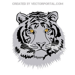 TIGER HEAD VECTOR CLIP ART.eps