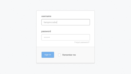Stacked Login Form