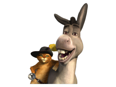 Donkey & Puss In Boots PSD