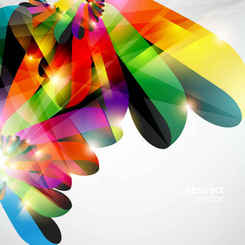 Bright colorful dynamic lines Background