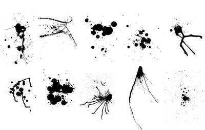 Vector Ink & Paint Splatters