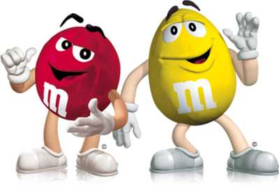 Red & Yellow M & M's PSD