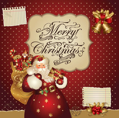 Xmas greeting card vector-2