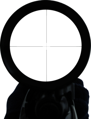Sniper Scope and Hand - HQ - 1305x1704 PSD