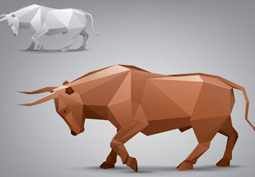 Vector animal stylized triangle polygon mode