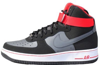 Nike airforce 1 Black Grey Red PSD