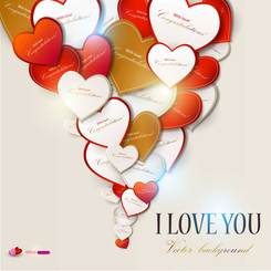 Exquisite Valentine's Day greeting card vector-1