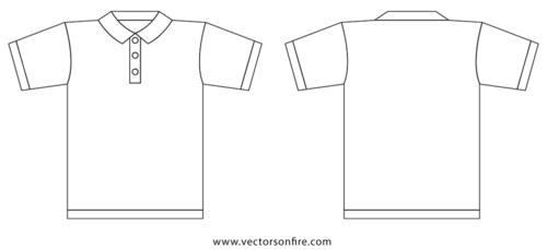 Collar T-Shirt Template by Jayhan