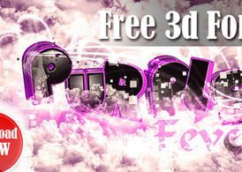 Purple Fever: 3d Font Pack