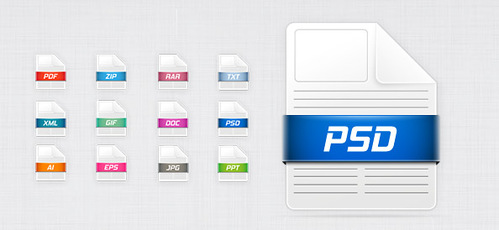 12 Free PSD File Icons