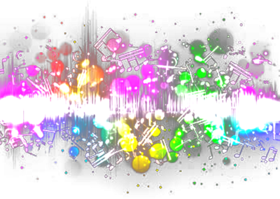 colorful music PSD